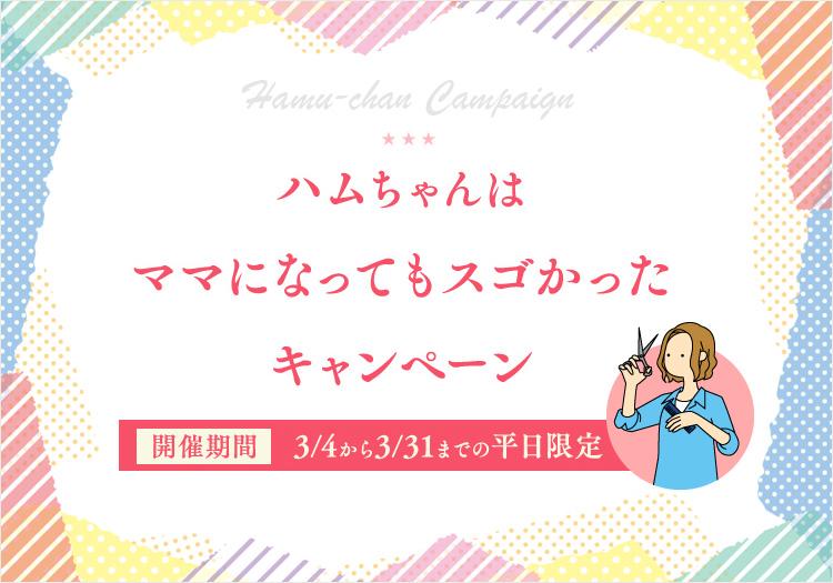 ★ハムちゃん★は、ママになってもスゴかった!キャンペーン☆彡